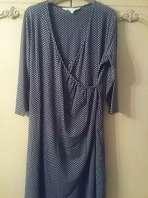 Women's Braintree Blue Polka Dot Tunic Dress. Size Large. Worn Twice. • 12£