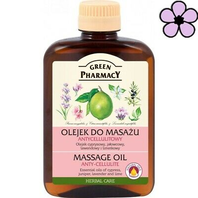 GREEN PHARMACY ANTI-CELLULITE MASSAGE NATURAL OIL JUNIPER/LAVENDER/LIME 200ml • 5.79£