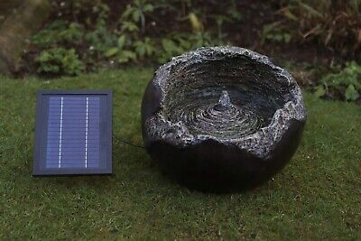 £124.99 • Buy Battery Backup Garden Outdoor Solar Powered Cracked Ball Water Fountain Feature