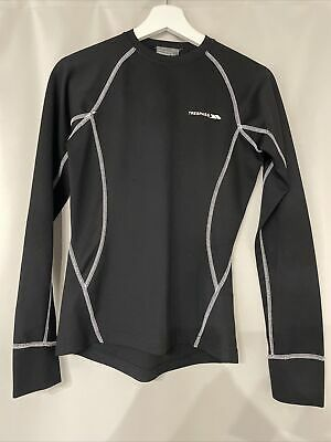 Trespass Womens Size 10 Black Active Wear Base Layer / Thermal Long Sleeve Top • 1.50£