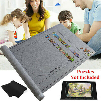 £5.49 • Buy Jigsaw Puzzle Storage Mat Roll Felt Storage Puzzles Pad Board Up To 3000 Pieces