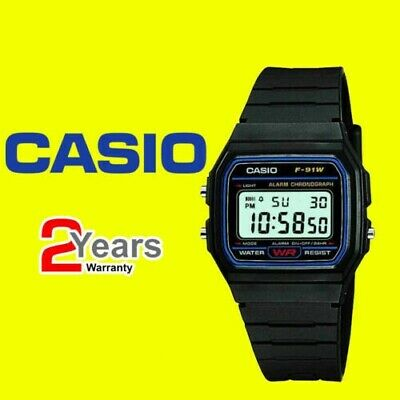 £6.99 • Buy Casio F-91W-1YER Men's Resin Digital Watch With Alarm For Men And Boys-Day&Date