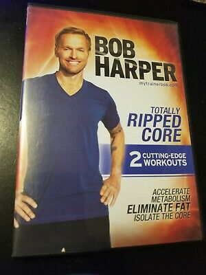 New Sealed Bob Harper TOTALLY RIPPED CORE (2 Cutting Edge Workouts) DVD Free Shi • 0.72£