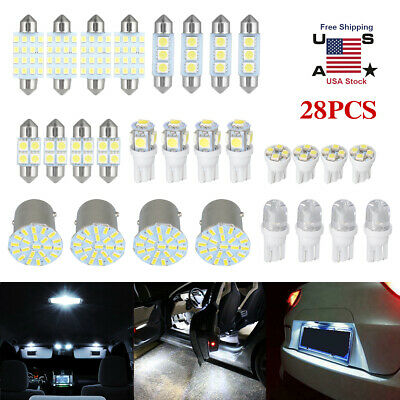 $9.99 • Buy 28Pcs Auto Car Interior LED Lights Dome License Plate Mixed Lamp Kit Accessories