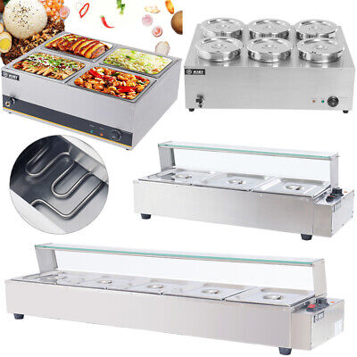 £125.95 • Buy Stainless Steel Bain Marie Electric Wet Heat Food Warmer Commercial GN Pan &Lid