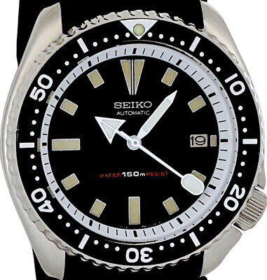 $ CDN50.17 • Buy Vintage Watch SEIKO Diver 7002 Mod W/all White  Arrow  Hour, Min, And SS Hands