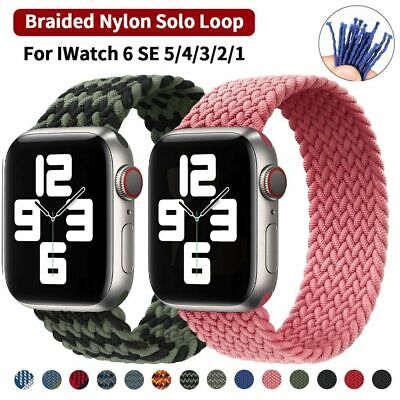 $ CDN5.63 • Buy Nylon Braided Solo Loop Band Strap 40mm/44mm For Apple Watch Series 6 5 4 3 SE 2