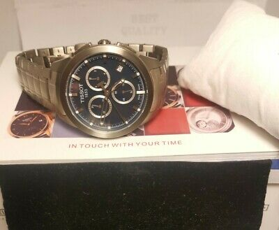 TISSOT T069417A Titanium Sapphire Dial Swiss Chrono Men Watch With Box&papers  • 300£