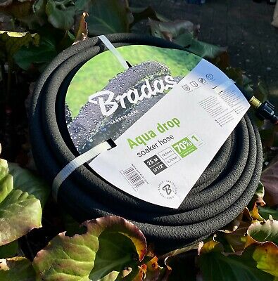 25m Porous Pipe/soaker Hose(LANDSCAPE GRADE) With Fittings • 21.99£
