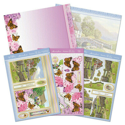 Hunkydory Double Kit Country Cottage & Butterfly Garden Deco Large Card Kit • 2.99£