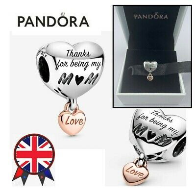 ALE S925 Genuine Silver Pandora Love You Mum Heart Charm With Gift Box 788830C00 • 12.88£