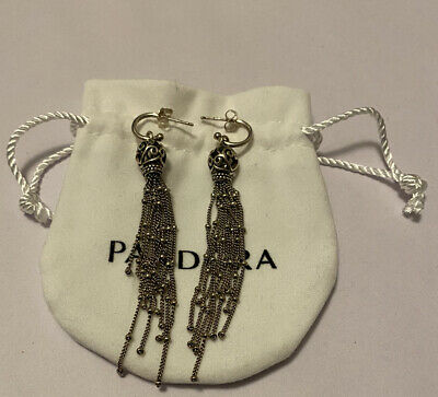 Pandora Enchanted Tassels Drop Earrings.  With Bag. • 45.50£