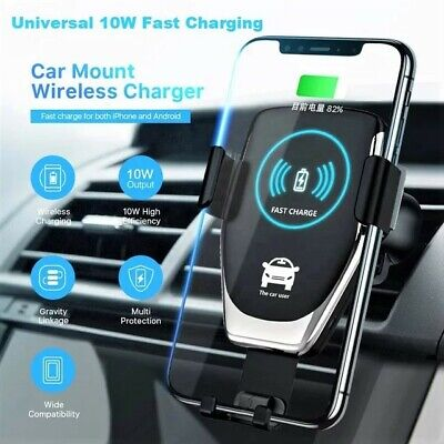$ CDN10.58 • Buy Qi Phone Holder + Wireless Fast Charger Car 10W For IPhone  Samsung