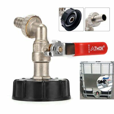 1/2  IBC Tote Tank Rainwater Ball Drain Tap Container Urea Valve Joint Adapter • 9.98£
