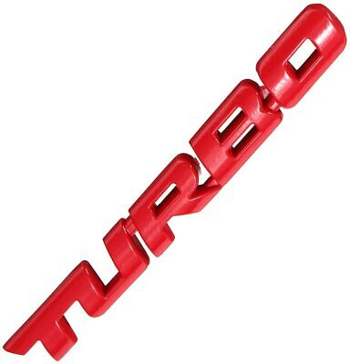 £4.25 • Buy Turbo 3D Metal Car Sticker Decals Lettering Car Body Rear/Side Badge Red
