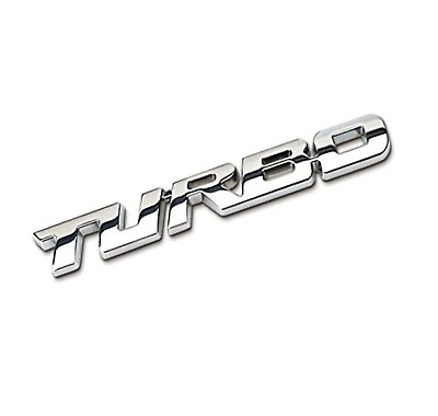 £4.25 • Buy Turbo 3D Metal Car Sticker Decals Lettering Car Body Rear/Side Badge Chrome