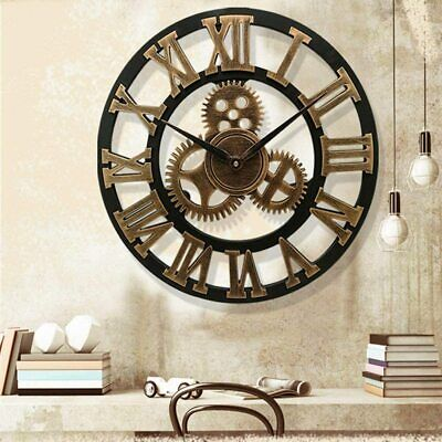 £20.99 • Buy Extra Large Roman Numerals Skeleton Wall Clock Big Giant Open Face Round 58CM