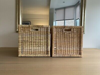 A Pair Of Ikea BRANÄS Wicker Baskets Suitable For The Kallax Unit  • 10.50£