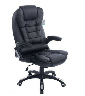 Cherry Tree Furniture Executive Recline Extra Padded Office Chair (Black PU Leat • 33.80£
