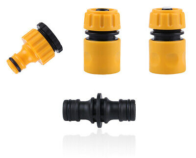 Water Hose Connector Set For Garden Car Hose End Quick Connector, Tap Connector • 3.90£