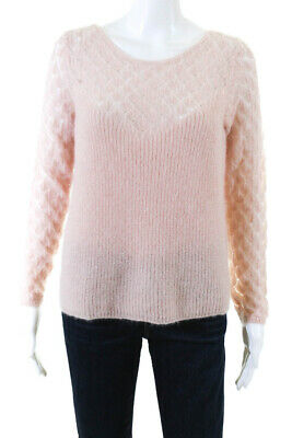 $ CDN41.85 • Buy La Maille Sezane Womens Long Sleeve Scoop Neck Knit Sweater Pink Extra Small