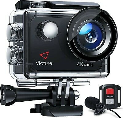 Victure AC900 4K Action Camera Touch Screen Wi-Fi 20MP Waterproof 30M Underwater • 15£