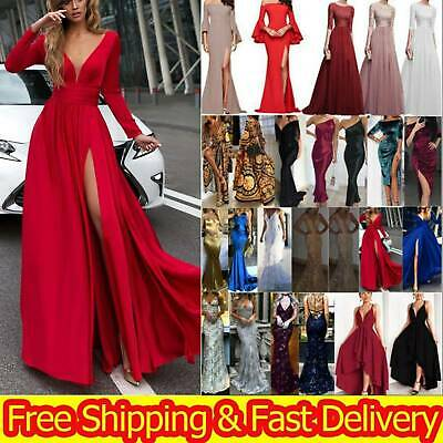 AU25.39 • Buy Women Formal Cocktail Evening Party Maxi Dress Prom Gown Bridesmaid Long Dress M