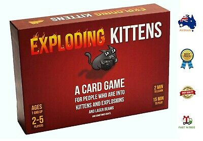 AU33 • Buy BRAND NEW- Exploding Kittens Original Edition Card Game -AUS STOCK,FREE SHIPPING