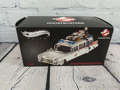 Hot Wheels Elite 1:43 Ghostbusters Ghost Busters Ecto-1 W1194 VERY RARE • 130£