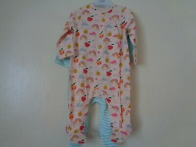 Blue Zoo 2 X Baby Girls Sleepsuits Age 3-6 Months BNWT • 14£