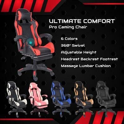 AU129.99 • Buy Gaming Chair Office Computer Seating Racing PU Executive Massage Racer Recliner