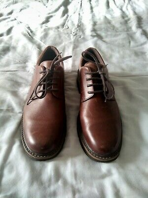Men's Rockport Shoes Lace Up Brown Leather Size 8 • 10£