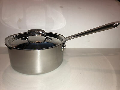 $ CDN112.36 • Buy All-Clad Stainless Steel 3 Qt. Saucepan W/ Lid 8  Diameter, 3.75  Deep, EUC