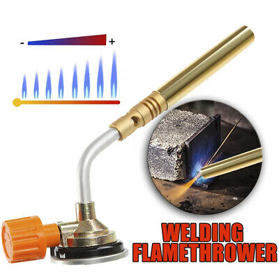 £10.49 • Buy Butane Gas Blow Torch Flamethrower Burner Welding Auto Ignition Camping BBQ Tool