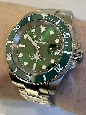 $ CDN180.62 • Buy Mens Automatic Watch Giv 'hulk' Submariner Divers Sapphire Ceramic Nh35 S Steel