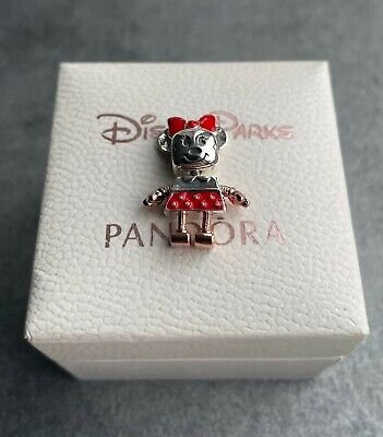 Genuine Pandora Disney Minnie Mouse Robot Charm S925 ALE Sterling Silver  • 12£