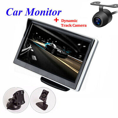 $41.30 • Buy Car Backup Cam Dynamic Trajectory Track Camera Parking System Kit + 5in Monitor