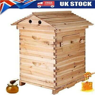 £119.99 • Buy Bee Hive House Super Brood 2-Layer Bee Keeping Box House 7pcs Bee Hive Frames UK