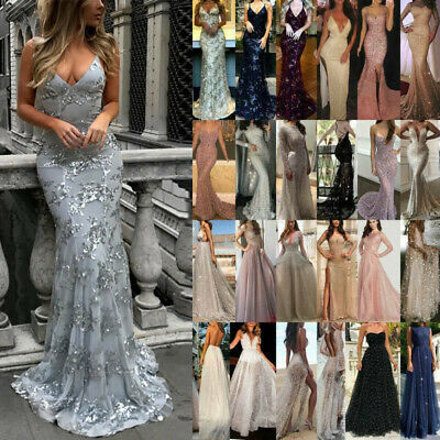 AU26.21 • Buy Women's Formal Wedding Evening Cocktail Ball Gown Party Prom Bridesmaid Dress XL