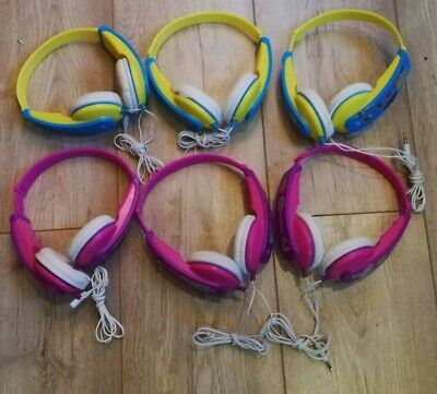 £7 • Buy 6 Jvc Hakd5p Tinyphones Kids Stereo Dj Onear Headphones - Pink/yellow Parts Only