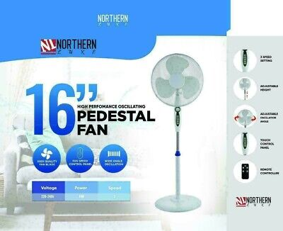 £31.89 • Buy 16  Pedestal Oscillating Standing Cooling Fan Cool Air Remote Control With Timer