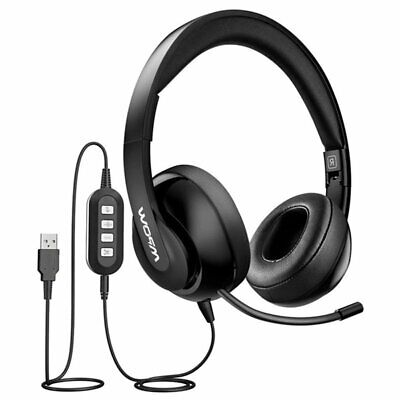 AU29.19 • Buy Mpow 224 USB Headset With Microphone Foldable Computer Headphones Music/Gaming