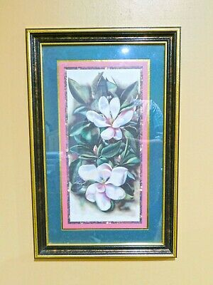 $50 • Buy Magnolia Flowers Pictures By Donna Heath Brooks - RARE Home Interiors Homco