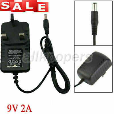 £3.29 • Buy DC AC 9V 2A Power Supply Transformer Adapter UK Plug Converter Wall Charger