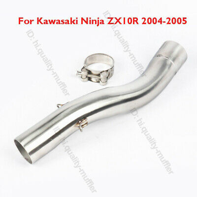 $57.44 • Buy Motorcycle Exhaust System Connect Middle Link Pipe For Kawasaki ZX10R 2004 2005