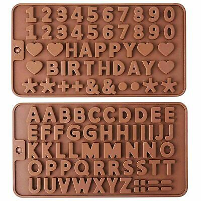 Alphabet Letter Chocolate Cake Mould Fondant Silicone Biscuit Mold Birthday DIY • 3.19£