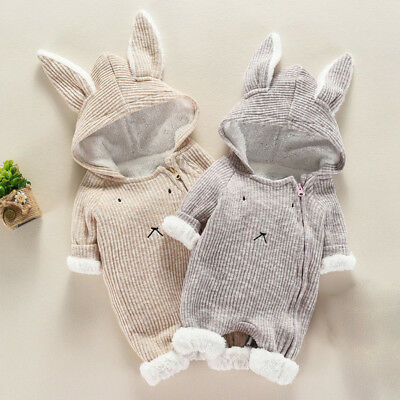 £15.61 • Buy Newborn Baby Boy Girl Kids Hooded Romper Jumpsuit Bodysuit Clothes Outfits