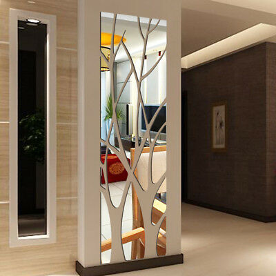 £4.85 • Buy Modern Mirror Style Removable Decal Art Mural Wall Sticker Home Room DIY BK