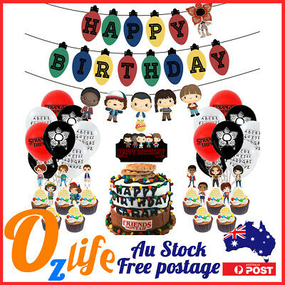 AU28.80 • Buy Deluxe 32pcs Stranger Things Balloons Set Air Inflatable Birthday Party Decors