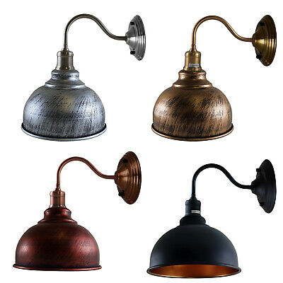 £16.96 • Buy E27 Vintage Industrial Retro Wall Lights Fittings Indoor Sconce Iron Metal Lamp